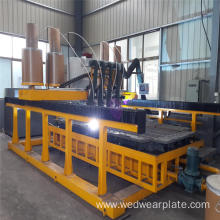 Four head plate welding machine